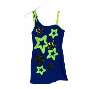 Justice size 14 blue star dress